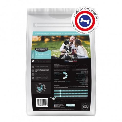 Alimentation pour chien - PRÉFÉRENCE Chien - XL Sans Céréales pour chiens