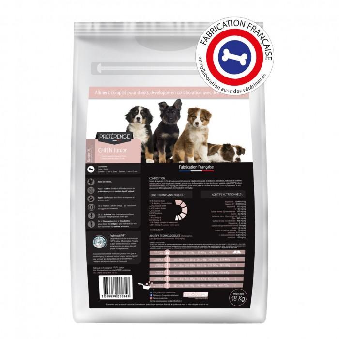 Alimentation pour chien - PRÉFÉRENCE Chien - Junior XL pour chiens