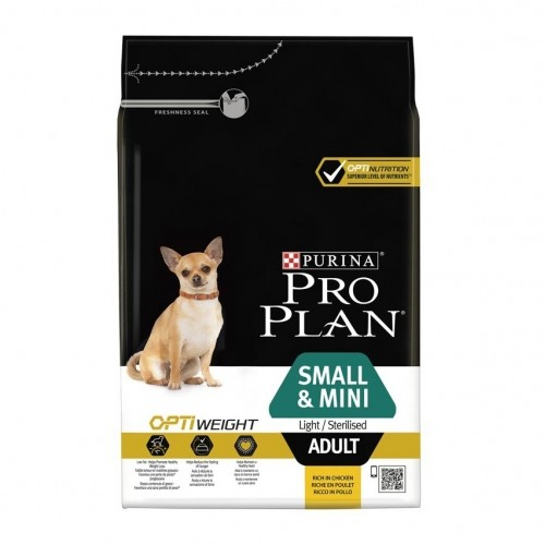 Alimentation pour chien - PURINA PROPLAN Light/Sterilised small & mini Adult - OptiWeight Poulet pour chiens