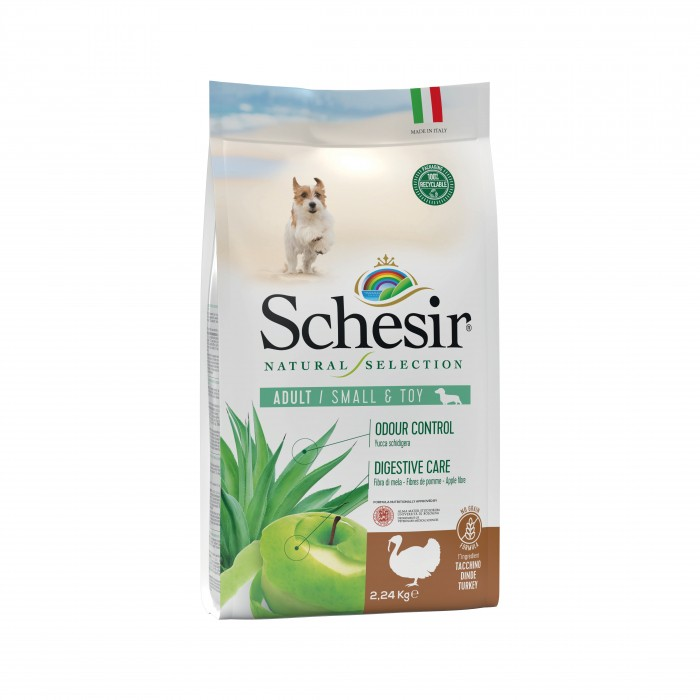 Alimentation pour chien - Schesir Natural Selection Adult Small & Toy - Dinde pour chiens