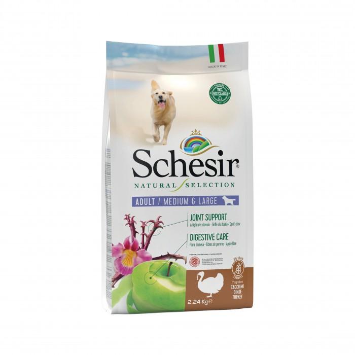 Alimentation pour chien - Schesir Natural Selection Adult Medium & Large - Dinde pour chiens