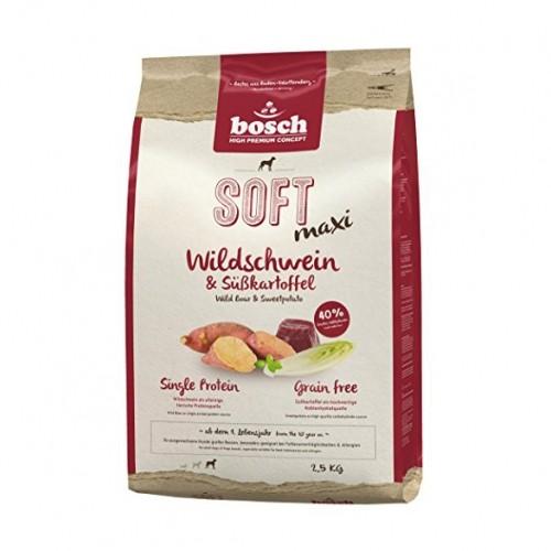 Croquettes pour chien  - BOSCH Soft - Maxi Grain Free - Sanglier et Patates douces
