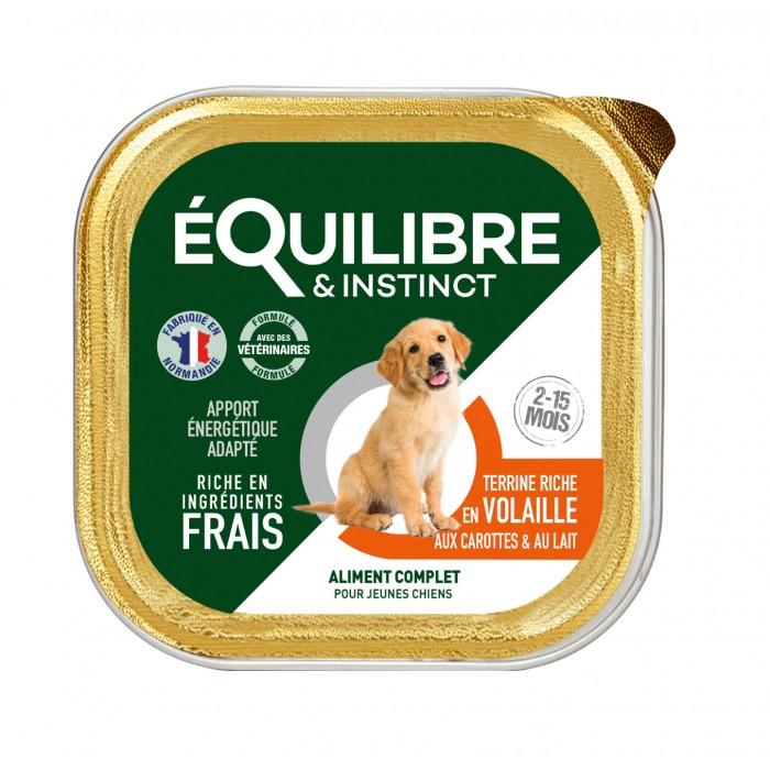 Alimentation pour chien - EQUILIBRE & INSTINCT Puppy - Lot 11 x 150 g pour chiens