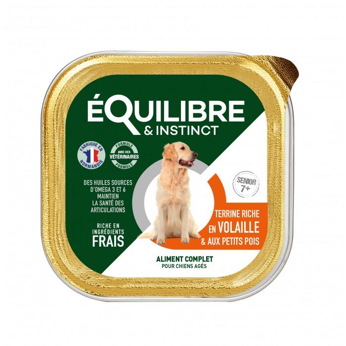 Alimentation pour chien - EQUILIBRE & INSTINCT Senior - Lot 9 x 300 g pour chiens