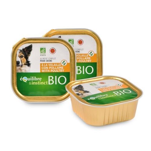 Pâtée en barquette pour chien Bio - EQUILIBRE & INSTINCT Pâtée Bio Adult - Lot 9 x 300 g