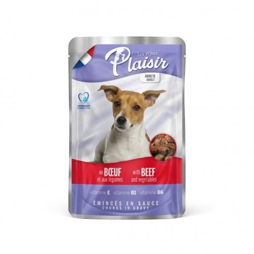 Alimentation pour chien - REPAS PLAISIR Adulte - Emincés en sauce - Lot 22 x 100 g pour chiens