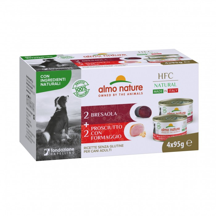 Alimentation pour chien - Almo Nature HFC Natural Made in Italy - Lot 4 x 95 g pour chiens