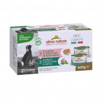Pâtée en boîte pour chien - Almo Nature HFC Complete Made in Italy - Lot de 4 x 95 g