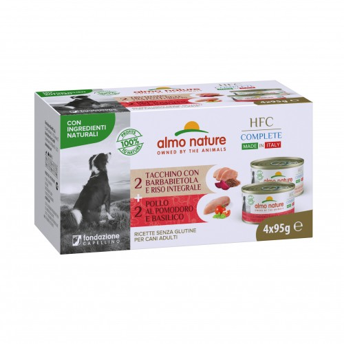 Alimentation pour chien - Almo Nature HFC Complete Made in Italy - Lot 4 x 95 g pour chiens