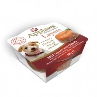 Pâtée en boîte pour chien - APPLAWS Layer en gelée Adulte - 6 x 100g