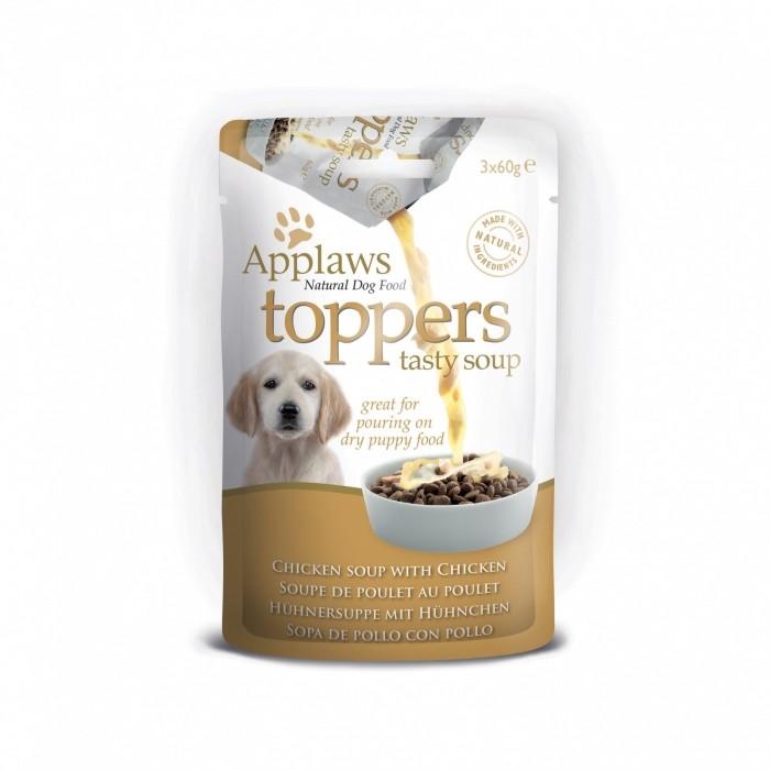 Alimentation pour chien - APPLAWS Toppers Soupe Chiot - 3 x 40g pour chiens