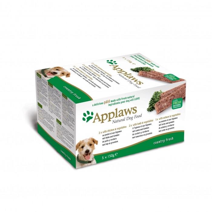 Alimentation pour chien - APPLAWS Multipack Pâtée Fresh Country Selection - 5 x 150g pour chiens