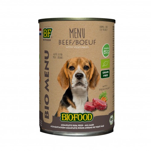 Alimentation pour chien - Biofood Menu BIO Chien pour chiens