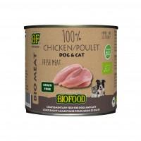 Aliment complémentaire pour chien et chat  - Biofood 100% viande BIO 100% viande BIO