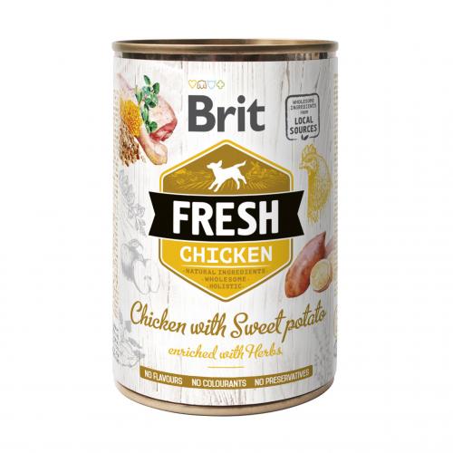 Alimentation pour chien - Brit Fresh - Pâtée en boîte pour chien adulte pour chiens
