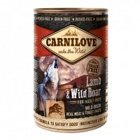 Pâtée en boîte pour chien - CARNILOVE Adult Agneau & Sanglier