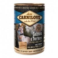 Pâtée en boîte pour chien - CARNILOVE Adult Saumon & Dinde