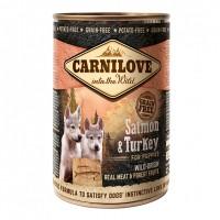 Pâtée en boîte pour chiot - CARNILOVE Puppy Saumon & Dinde