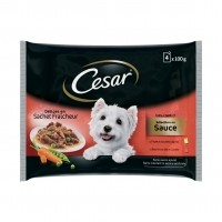 Sachet fraîcheur pour chien - César Sélection en sauce Adulte - 4 x 100 g Sélection en sauce Adulte - 4 x 100 g