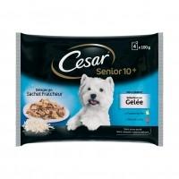Sachet fraîcheur pour chien - César Sélection en gelée Senior 10+ - 4 x 100 g