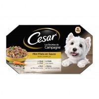 Pâtée en barquette pour chien - César Mini filets en sauce