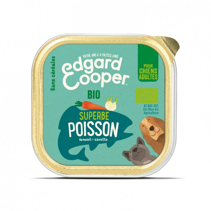 Alimentation pour chien - Edgard & Cooper, pâtée bio en barquettes pour chien adulte pour chiens