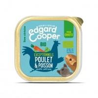 Pâtée en barquette pour chiot - Edgard & Cooper Pâtée Bio sans céréales Chiot - 17 x 100g