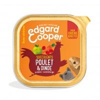 Pâtée en barquette pour chien - Edgard & Cooper, pâtée en barquette pour chien adulte - 18 x 300 g Pâtée sans céréales Adulte