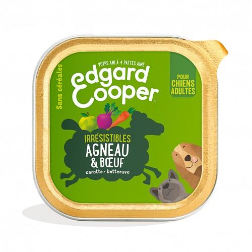 Alimentation pour chien - Edgard & Cooper, pâtée en barquette pour chien adulte - 18 x 300 g pour chiens