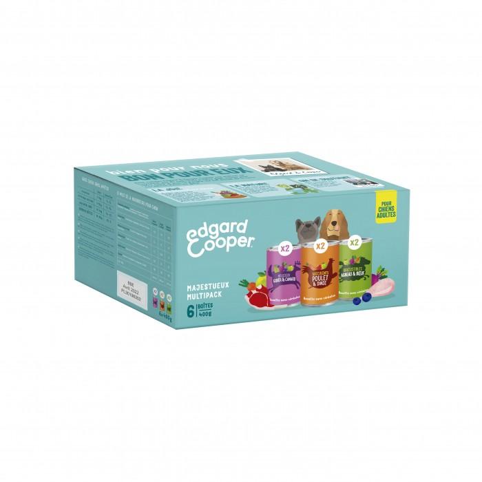 Alimentation pour chien - Edgard & Cooper Multipack 3 saveurs - 6 x 400 g pour chiens