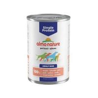 Pâtée en boîte pour chien - ALMO NATURE Single Protein - Lot 6 x 400g