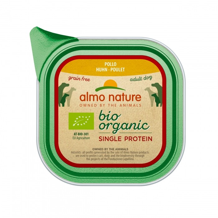 Alimentation pour chien - Almo Nature BioOrganic Single Protein - 22 x 150 g pour chiens