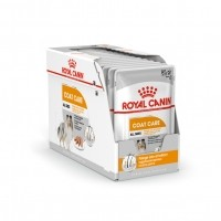 Sachet fraîcheur pour chien - Royal Canin Coat Care - Pâtée pour chien Coat Care Adulte - Lot 12 x 85g