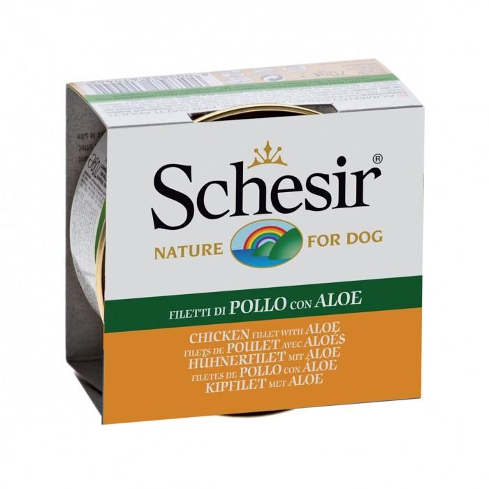 Alimentation pour chien - Schesir Pâtée en gelée Adult - Lot 10 x 150g pour chiens