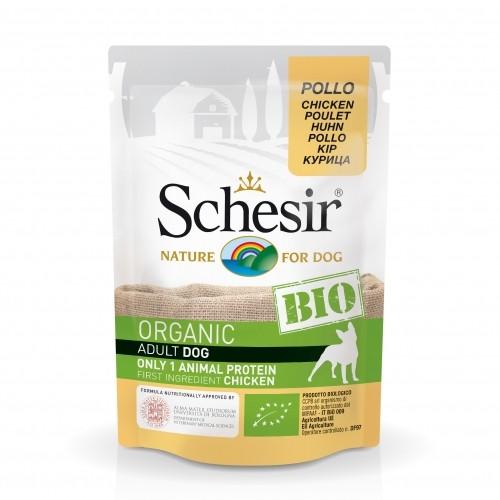 Alimentation pour chien - Schesir BIO Adult - Lot 16 x 85 g pour chiens