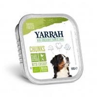 Pâtée en barquette pour chien - Yarrah Bouchées Bio en barquette - 6 x 150 g Bouchées Bio en barquette - 6 x 150 g