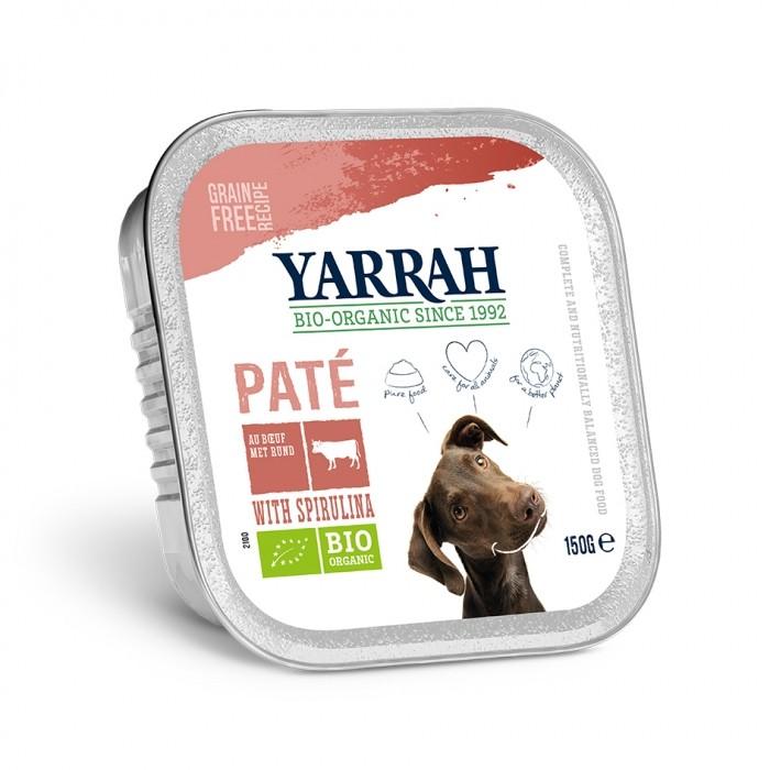 Alimentation pour chien - Yarrah Pâtée Grain Free Bio en barquette - 6 x 150 g pour chiens