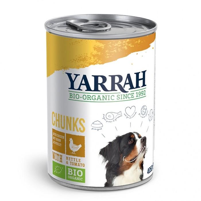 Alimentation pour chien - Yarrah Bouchées Bio en boîte - 6 x 405 g pour chiens