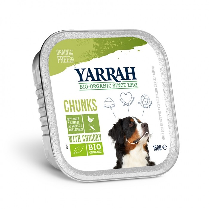 Alimentation pour chien - Yarrah Bouchées biologiques - Lot de 12 x 150g pour chiens
