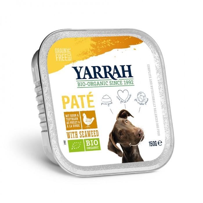 Alimentation pour chien - Yarrah Pâtée biologique au poulet - 12 x 150 g pour chiens