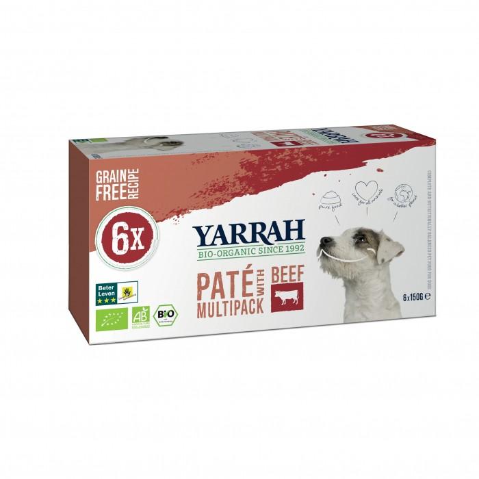 Alimentation pour chien - Yarrah Multi Pack biologique - Lot de 6 x 150g pour chiens
