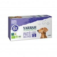 Pâtée en barquette pour chien - Yarrah Multi Pack biologique - Lot de 6 x 150g Multi Pack biologique - Lot de 6 x 150g