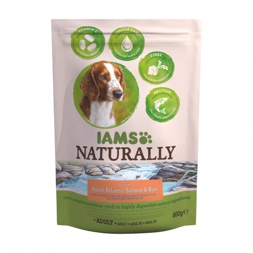 iams croquettes pour chien naturally adulte saumon. Black Bedroom Furniture Sets. Home Design Ideas