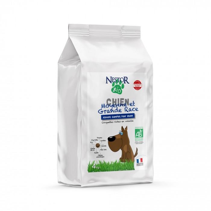 Alimentation pour chien - Nestor Bio Adulte Moyenne et Grande Races pour chiens