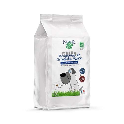 Alimentation pour chien - Nestor Bio Adulte Moyenne et Grande Races Sans Céréales pour chiens