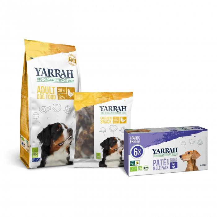 Alimentation pour chien - Yarrah, Pack découverte au poulet pour chien adulte pour chiens