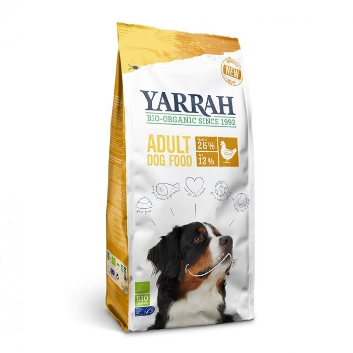 Alimentation pour chien - Yarrah Croquettes bio au poulet pour chien adulte pour chiens