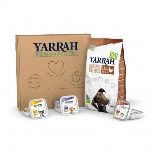 Alimentation pour chien - Yarrah Box Passer au Bio - Sans céréales - Chien adulte pour chiens