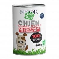 Pâtée pour chien - Nestor Bio 100% viande 100% viande