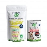 Pâtée pour chien - Nestor Bio 100% viande et smoothie